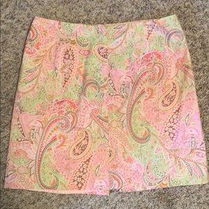 NWOT Women's Talbots paisley skirt w/ slit SZ-16
